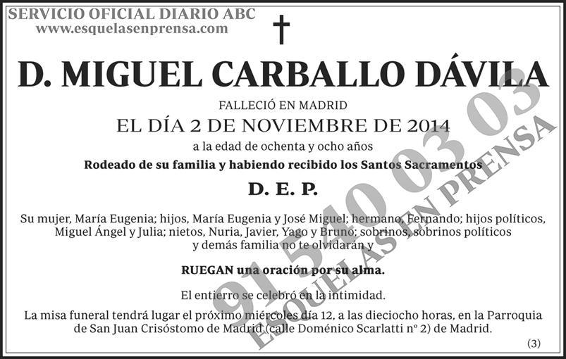 Miguel Carballo Dávila